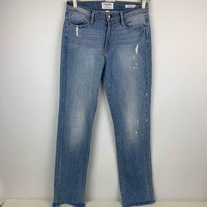 Frame Denim Jeans Le High Straight Leg Raw Hem